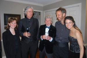 Richard Stoltzman and VBF artists following Brahms clarinet quintet June 14, 2014