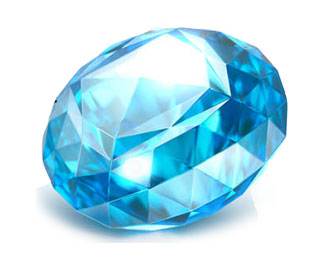 BLUE TOPAZ JEWEL BALL WITH TWO TONS OF STEEL